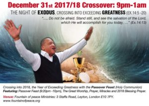 December 31st - The Night of Greatness (Ex.14:5 -20) @ Fountain of Peace Miniseries  | England | United Kingdom