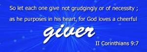 Giving God Image