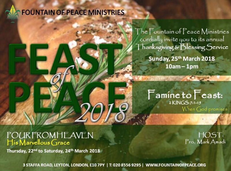Pour from Heaven @ Fountain of Peace Ministries | England | United Kingdom