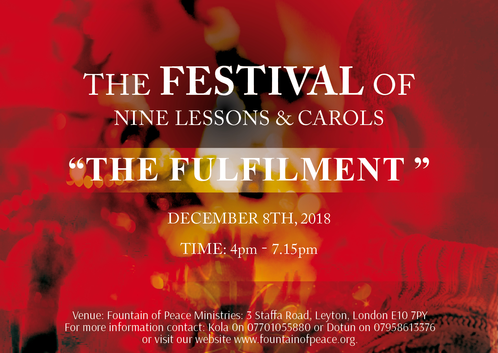 The Festival of Nine Lessons & Carols
