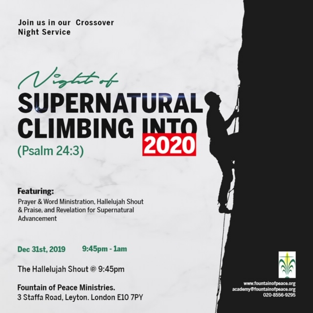 Night of Supernatural Climbing into 2020