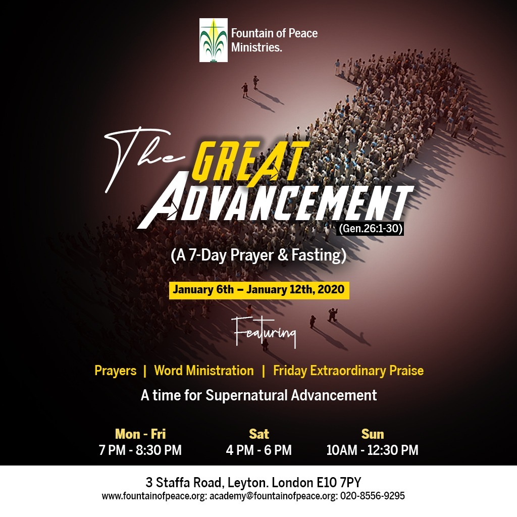 The Great Advancement (A 7-Day Prayer and Fasting)